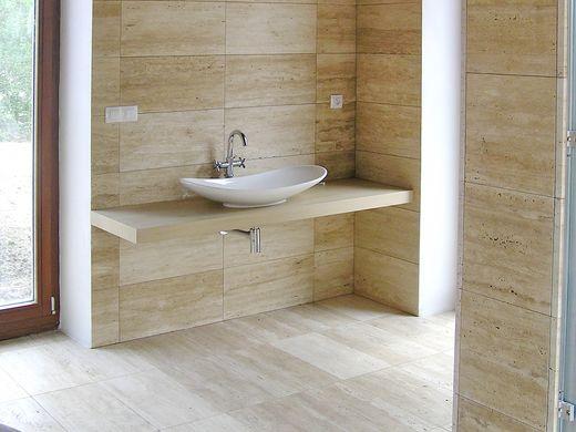 Kamenná dlažba do koupelny, kamenné obklady do koupelny