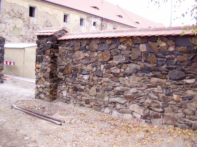 Zeď břidlice